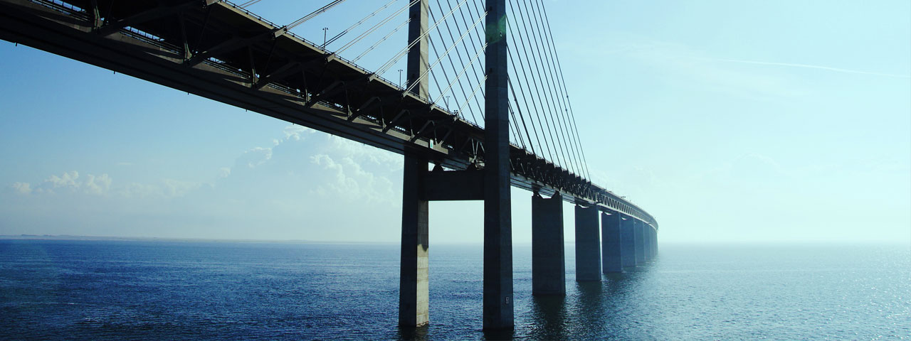 Oresund Bridge Denmark Sweden